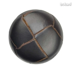 Shank Leather Button: BMJ01 DK. Brown