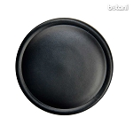 Shank Leather Button: BMJ23 Black