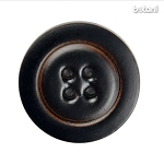 Leather Button 4 Holes: BMJ25-1 DK. Brown