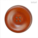 Leather Button 4 Holes: BMJ27 L. Brown