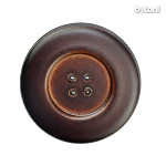 Leather Button 4 Holes: BMJ31 MD. Brown
