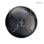 Leather Button 4 Holes: BMJ33 Black