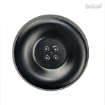 Leather Button 4 Holes: BMJ35 Black