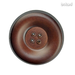 Leather Button 4 Holes: BMJ35 MD. Brown