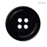 Mother Of Pearl Button: Black