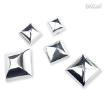 Square Rivet: Chrome
