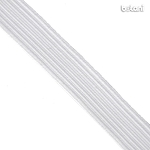 Flat Elastic : White 15mm (19/32