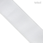 Flat Elastic : White 50mm (2