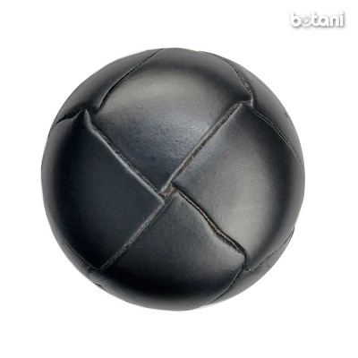 Shank Leather Button: BMJ01 Black