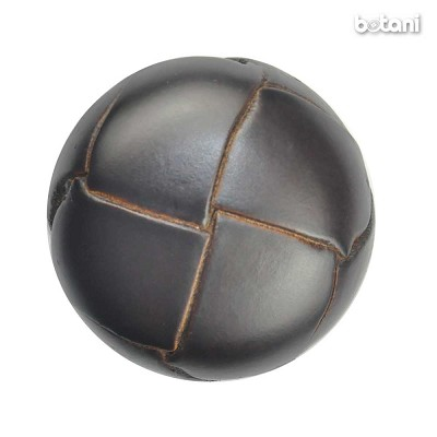 Shank Leather Button: BMJ03 DK. Brown