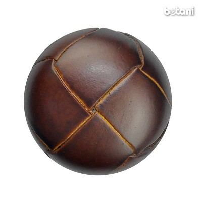 Shank Leather Button: BMJ03 MD. Brown