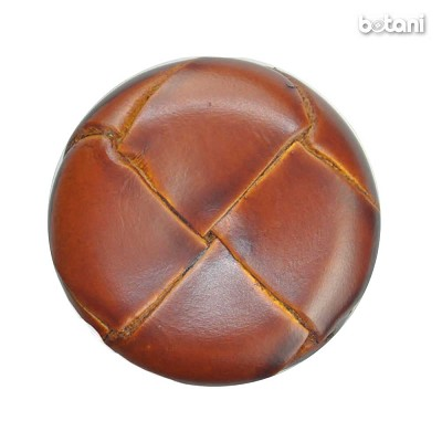 Shank Leather Button: BMJ06 L. Brown