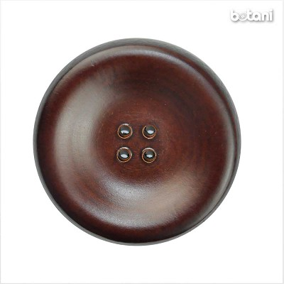 Leather Button 4 Holes: BMJ27 MD. Brown