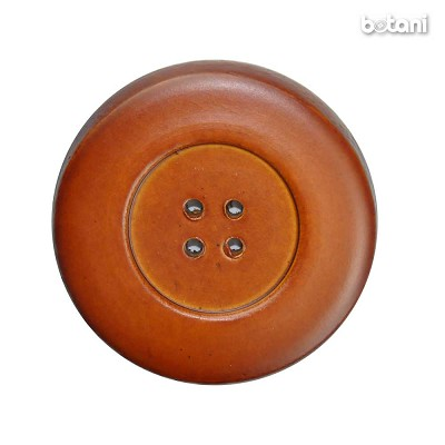 Leather Button 4 Holes: BMJ31 L. Brown