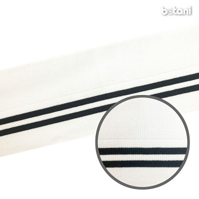 "YDSL1805-97: 4"" x 40"" Striped Rib Knit"