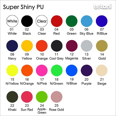 "Botani® Super Shiny PU: 10"" Wide Roll"