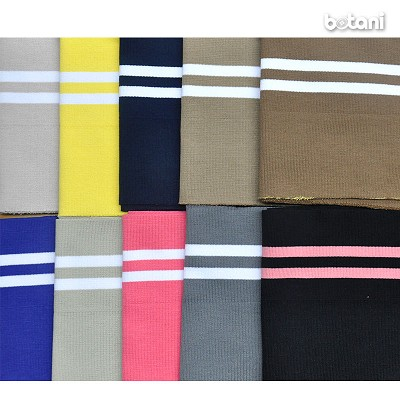 "Ribbed Knit Stripe B4 / 62 Colors Available / 40"" L X 6.3"" W"