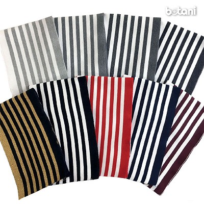 "Ribbed Knit Stripe B2 / 40"" L X 6.3"" W"