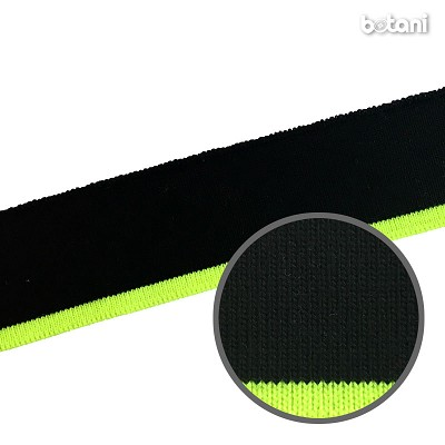 "YDDY1804-45: 1.25"" x 28"" Striped Rib Knit: Neon Green"