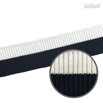 "YDDY1804-07: 1.25"" x 39"" Striped Rib Knit"
